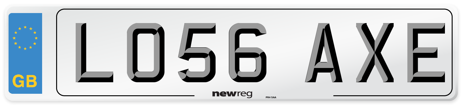 LO56 AXE Number Plate from New Reg